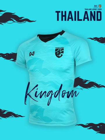 Thailand National Team Goalkeeper Cheer Jersey 2020 - Light Blue - thaifutbol