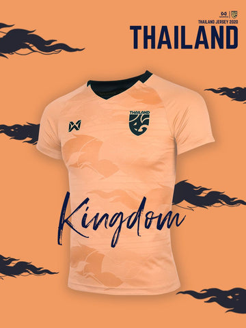 Thailand National Team Goalkeeper Cheer Jersey 2020 - Orange/Pink - thaifutbol
