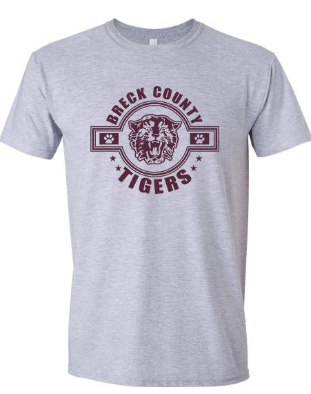 Copy of Copy of BCMS Spirit Wear 2019 BCMS Tiger Circle Design Sport Gray Softstyle T-shirt