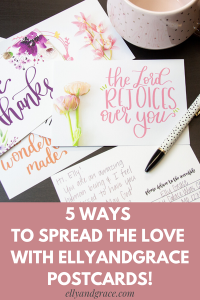 5 Ways to Spread the Love with EllyandGrace Postcards!