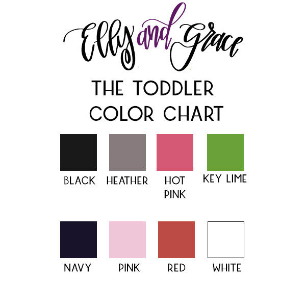 Toddler Shirt Color Chart