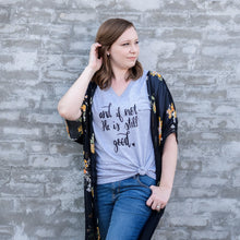 And if Not, He is Still Good Relaxed Ladies Vneck-ellyandgrace