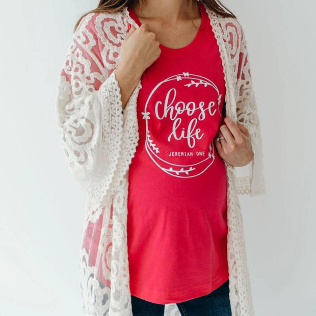 Choose Life Ladies Maternity Shirt