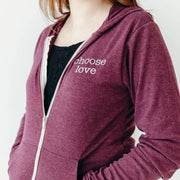 Choose Love Lightweight Zip up Hoodie