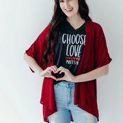 Choose Love Relaxed Ladies Vneck