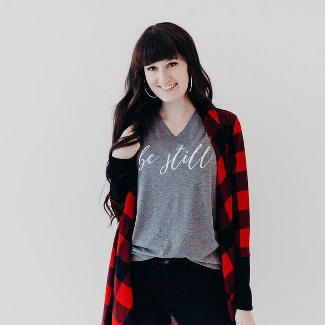 Be Still Relaxed Ladies Vneck