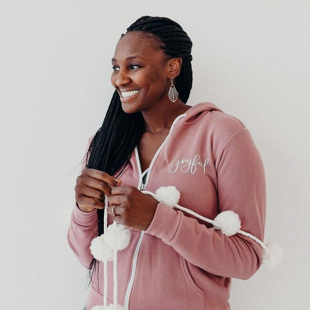 Joyful Premium Fleece Zip Up Hoodie