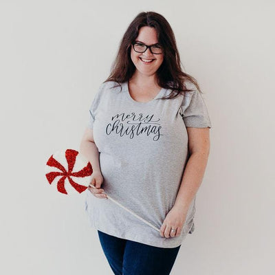 Merry Christmas Ladies Maternity Shirt