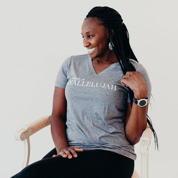 Raise a Hallelujah Relaxed Ladies Vneck