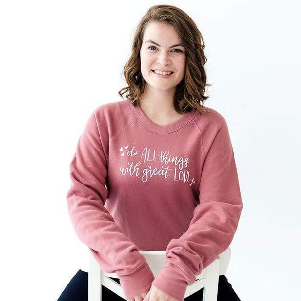 Do All Things with Great Love Premium Fleece Pullover