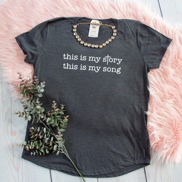 This is my Story, This is my Song Triblend Short Sleeve Shirt-ellyandgrace