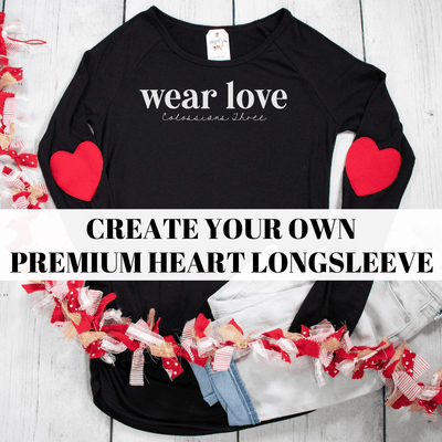 Create Your Own Premium Heart Longsleeve Shirt