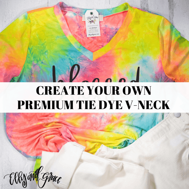 Create Your Own Premium Tie Dye V-Neck