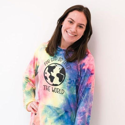 For God So Loved the World Premium Tie Dye Hoodie