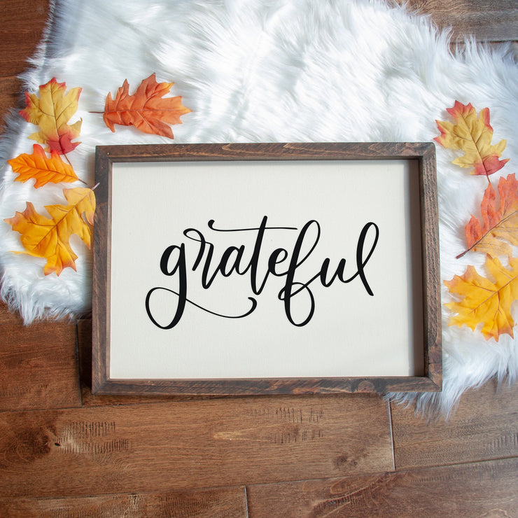 Grateful Handmade Sign