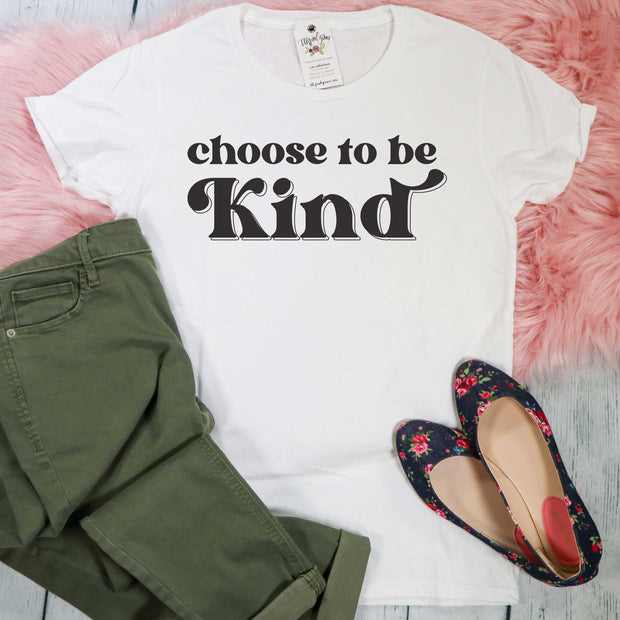 Choose to Be Kind Ladies Short Sleeve Shirt