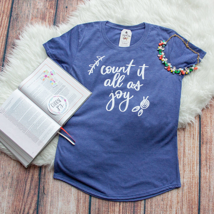 Count it All as Joy Triblend Short Sleeve Shirt