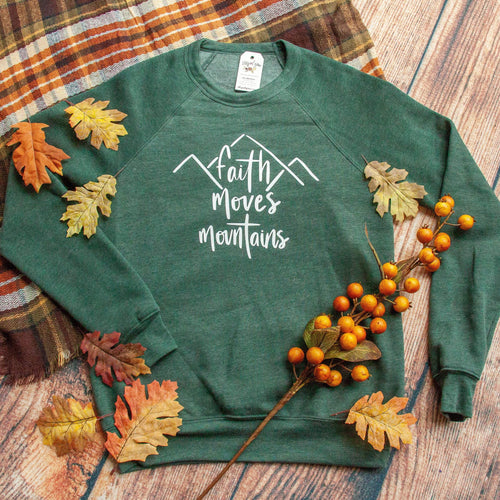 Faith Moves Mountains Premium Fleece Pullover