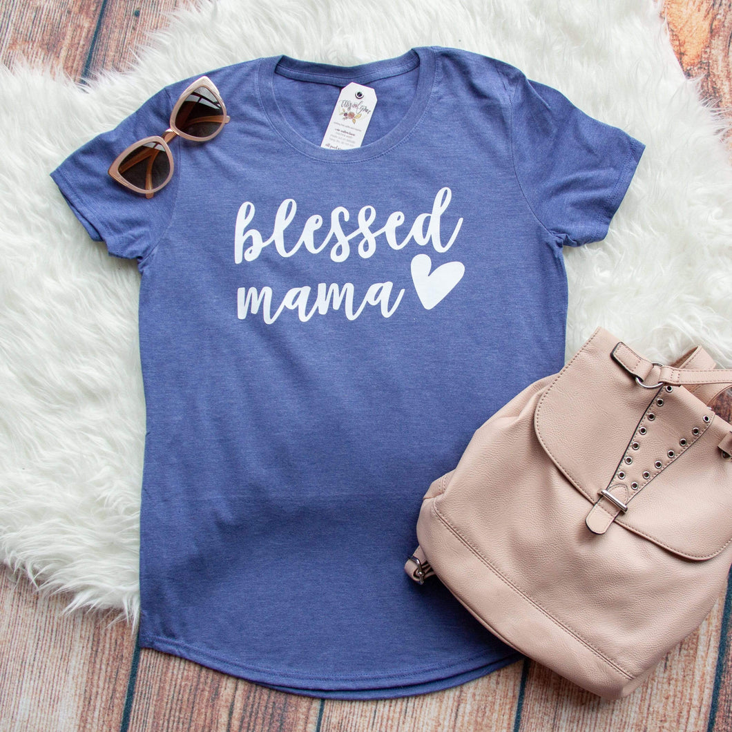Blessed Mama Triblend Short Sleeve Shirt
