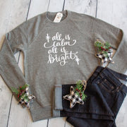 All is Calm, All is Bright Premium Fleece Pullover