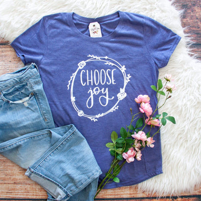 Choose Joy Triblend Short Sleeve Shirt