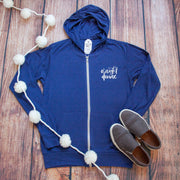 O Night Divine Lightweight Zip up Hoodie