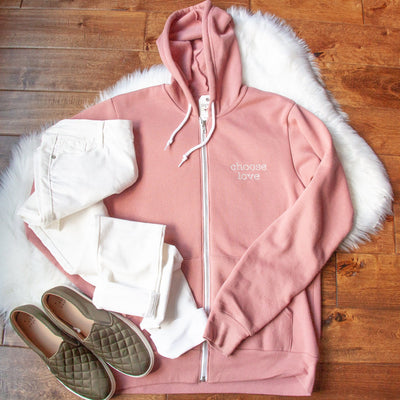 Choose Love Premium Fleece Zip Up Hoodie