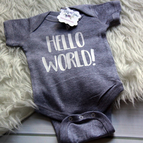 Hello World Infant Bodysuit-ellyandgrace