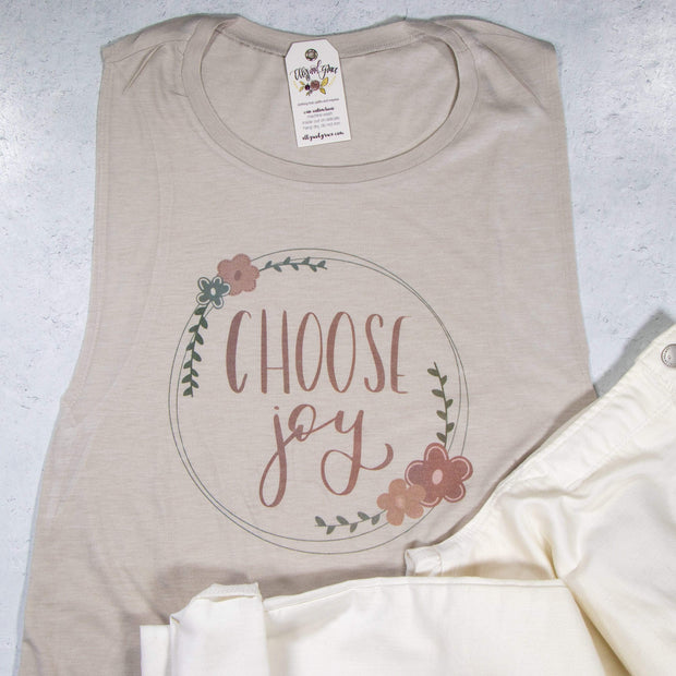 LIMITED EDITION Choose Joy Ladies Muscle Tank