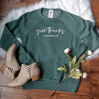 Give Thanks Premium Fleece Pullover