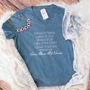 Name Above All Names Relaxed Ladies Vneck