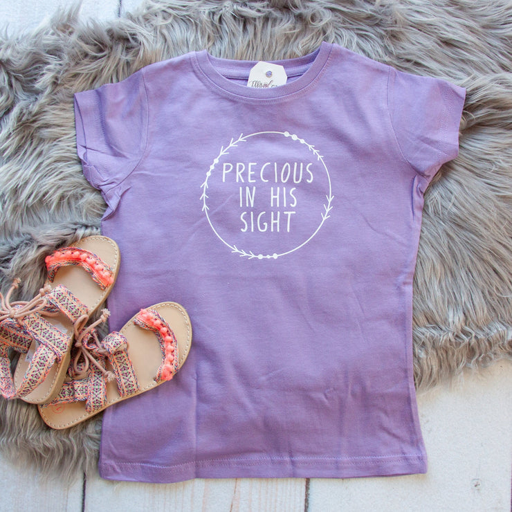Precious in His Sight Toddler Girl Shirt