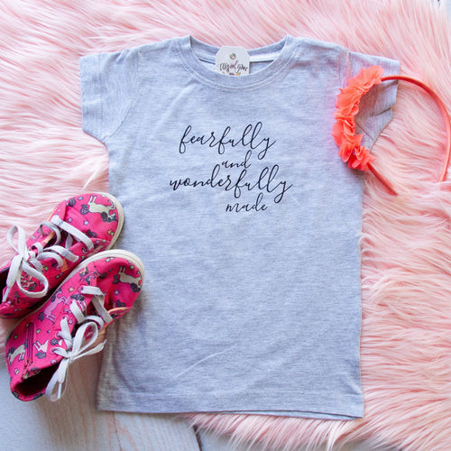 Fearfully and Wonderfully Made Toddler Girl Shirt