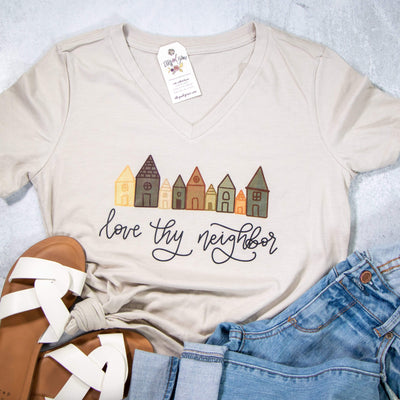 Love Thy Neighbor Relaxed Ladies V-Neck