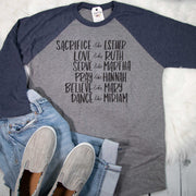 Women of the Bible Raglan