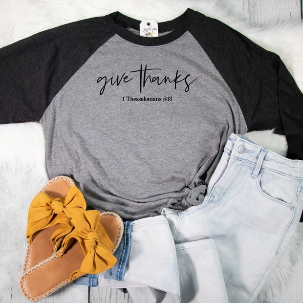 Give Thanks Raglan