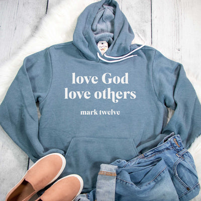 Love God Love Others Premium Fleece Hoodie