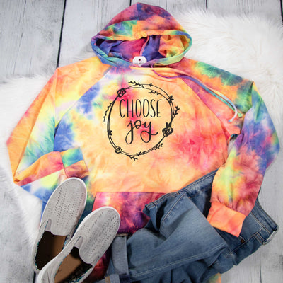 Choose Joy Premium Tie Dye Hoodie