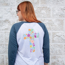 Floral Cross Baseball Shirt