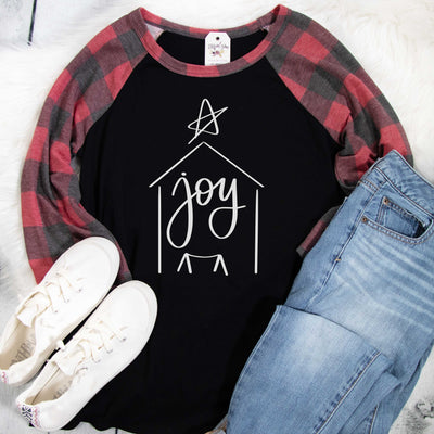 Joy Nativity Premium Buffalo Raglan
