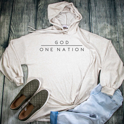 One Nation Under God Premium Oatmeal Hoodie