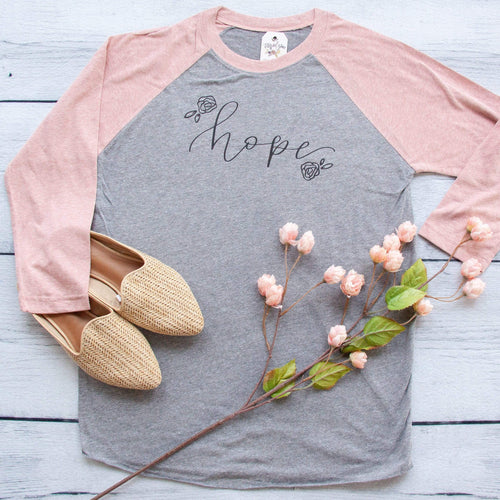 Hope Floral Baseball Shirt