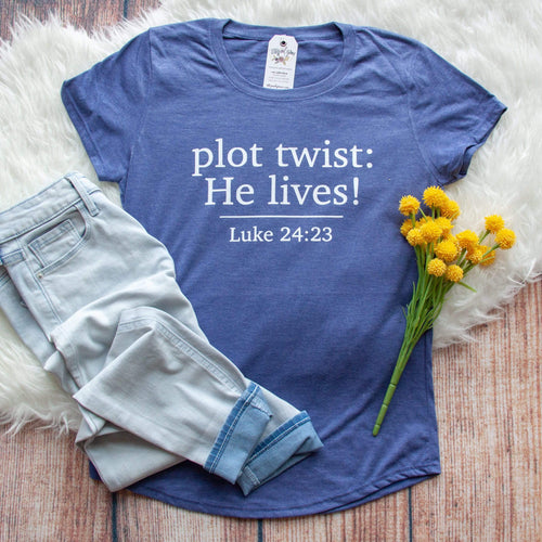 Plot Twist: He Lives! Triblend Short Sleeve Shirt