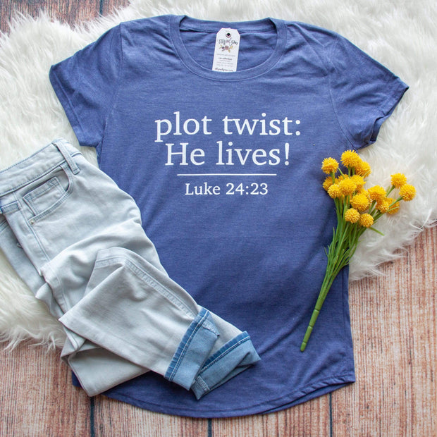 Plot Twist: He Lives! Ladies Short Sleeve Shirt