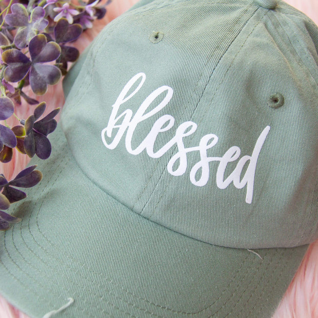Blessed Modern Distressed Hat