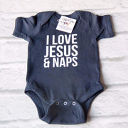 I Love Jesus and Naps Infant Bodysuit-ellyandgrace