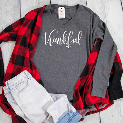 Thankful Longsleeve V-Neck