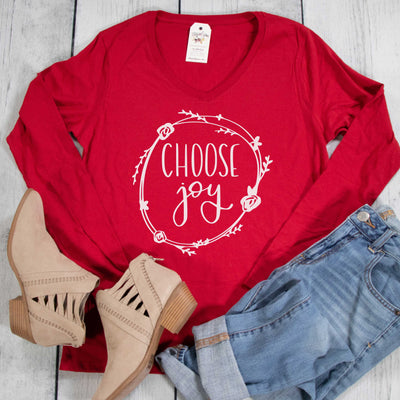 Choose Joy Longsleeve V-Neck