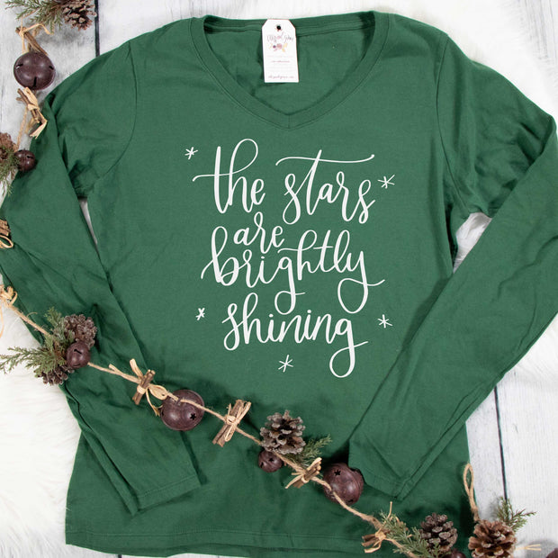 The Stars are Brightly Shining Longsleeve V-Neck