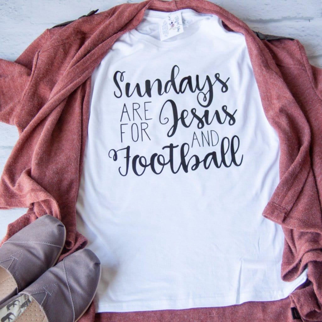 Sundays are for Jesus and Football Shirt - Christian shirt for women